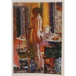 The toilette  - lithograph -  Bonnard