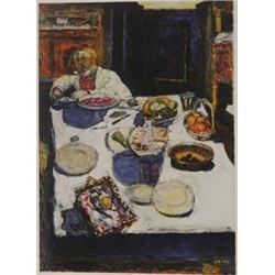 The Table - Lithograph -  Bonnard