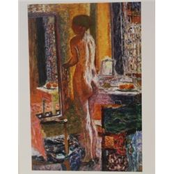Limited Edition Nude infront of mirror - Lithograph - Bonnard