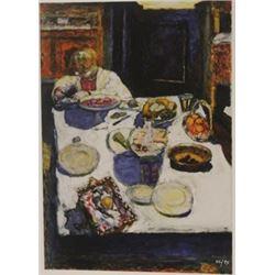 Boy At Table- Lithograph -  Bonnard
