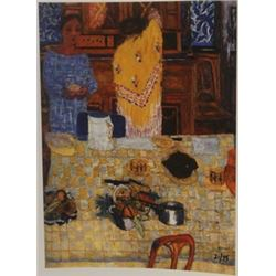 the yellow shawl Limited ed - Lithograph -  bonnard