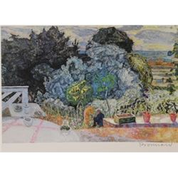 Out in the garden  - Signed Lithograph -  Bonnard