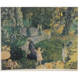 At the Park - Signed Lithograph -  Bonnard