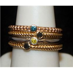 Beautful 14kt over Silver Mix Rings with Mix Stones (76I)