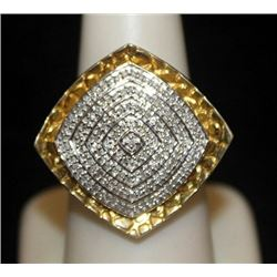 Beautiful 14kt over Silver Ring with Diamonds (97I)