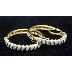Beautiful 14kt over Silver Earrings with Diamonds (161I)