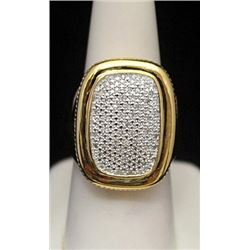 Beautiful 14kt over Silver Ring with Cluster Diamonds (172I)
