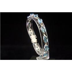 Gorgeous Royal Blue Topaz Silver Bracelet