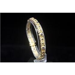 Exquisite 14kt Gold over Silver Alexandrite Bracelet