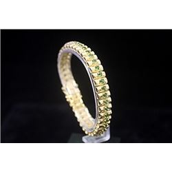 Gorgeous 14kt Gold over Silver Russian Chrome Diopside Bracelet
