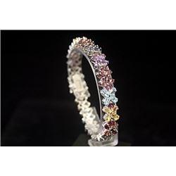 Beautiful Mix Stone Silver Bracelet