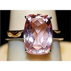 Gorgeous Pink Lab Sapphire SS Ring. (182L)