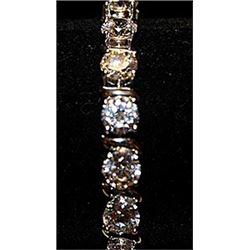 Gorgeous Cubic Zirconia Sterling Silver Bracelet.