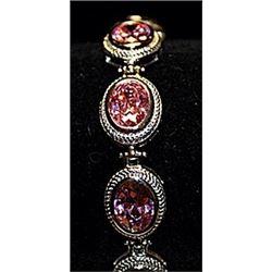Gorgeous Lab Sapphires Sterling Silver Bracelet.