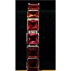 Gorgeous Garnets Sterling Silver Bracelet.