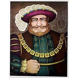 "Lithograph ""King Henry""  John Longendorfer"