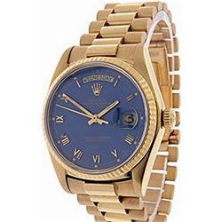 Men's 18K Day-Date Rolex Wrist Watch
