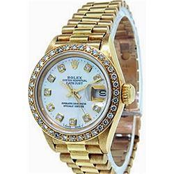 Ladys 18K President DiamondDial Rolex