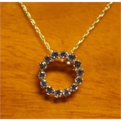Beautiful 14kt Gold Pendant with Tanzanite