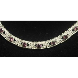 Beautiful Sterling Silver Necklace with Tanzanite