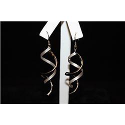 Dazzling Swirled Silver Earrings (24E)