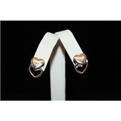 Stunning T & Co. Double Heart Earrings (40E)