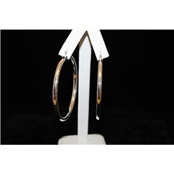 Beautiful Hoop Silver Earrings (43E)
