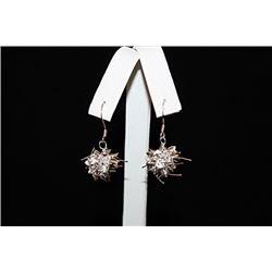 Lavish Cluster Ball Silver Earrings (58E)