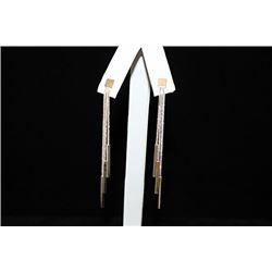 Stunning Dangly Silver Earrings (60E)