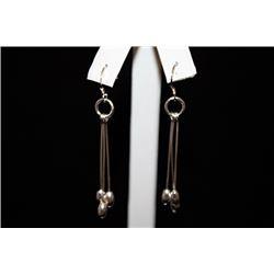 Fine Dangling Silver Earrings (69E)
