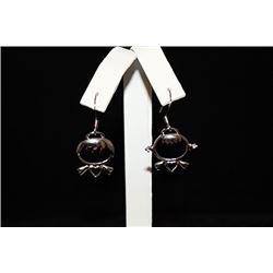 Lady's Fancy Designer Silver Earrings (71E)