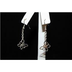 Fine T & Co. Butterfly Silver Earrings (76E)
