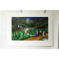 Hand Signed Lithograph Vincent