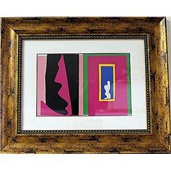 Framed Henri Matisse-Jazz LE Lithograph (60E-EK)