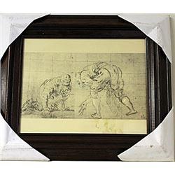 Framed Engraving (62E-EK)