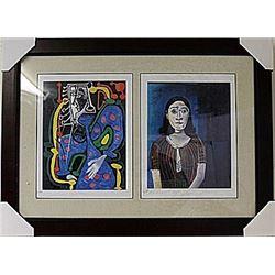 Framed 2-in-1-Picasso Lithographs (85E-EK)