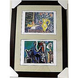 Framed 2-in-1-Picasso Lithographs (86E-EK)