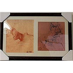 Framed 2-in-1 Engravings  (116E-EK)