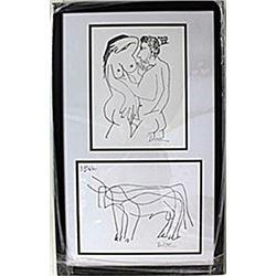 Framed 2-in-1 Picasso Lithographs (117E-EK)
