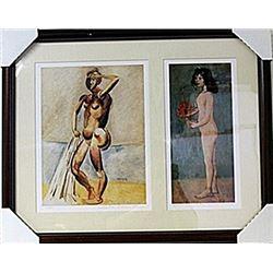 Framed 2-in-1 Picasso Lithographs (122E-EK)