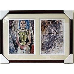 Framed 2-in-1 Picasso Lithographs (129E-EK)