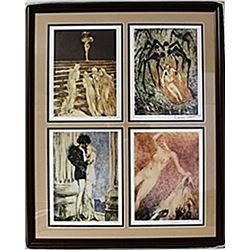 Framed 4-in-1 Louis Icart Lithographs (144E-EK)