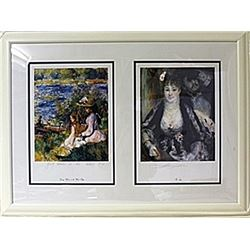 Framed 2-in-1 Pierre-Auguste Renoir Lithographs (147E-EK)