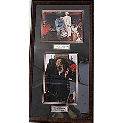 Framed 2-in-1 Norman Rockwell Lithographs (151E-EK)