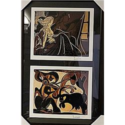 Framed 2-in-1 Picasso Lithographs (169E-EK)
