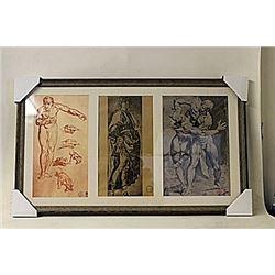 Framed 3-in-1 Robert Mapplethorpe Lithographs (174E-EK)