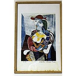 Framed Picasso Lithograph (186E-EK)