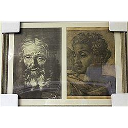 Framed 2-in-1 Engravings (220E-EK)