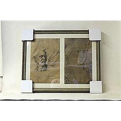 Framed 2-in-1 Engravings (222E-EK)