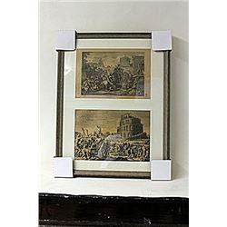 Framed 2-in-1 Engravings (230E-EK)